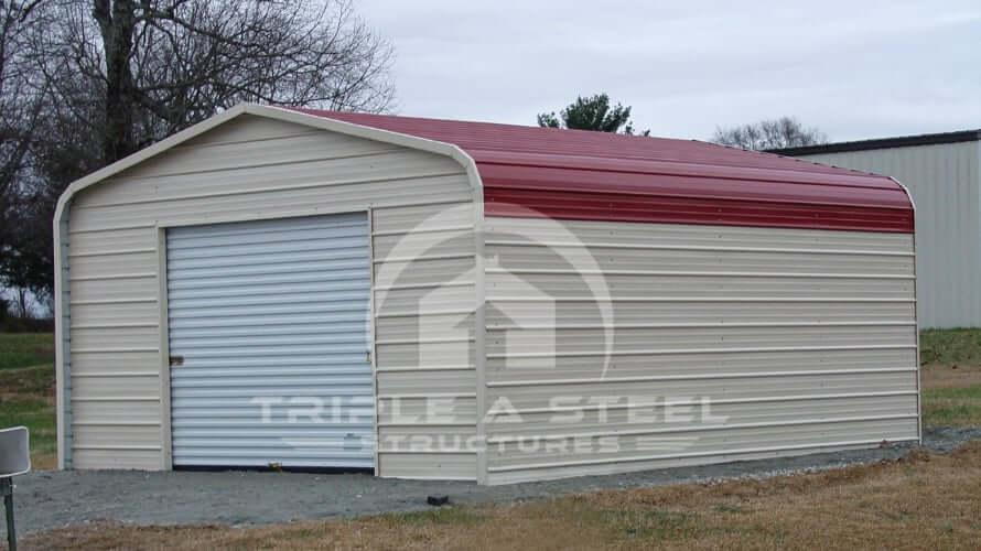 18×21 Regular Metal Garage with Garage Door