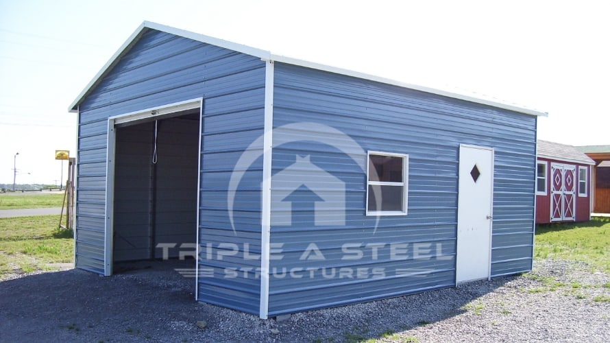 22×26 Boxed Eave Metal Garage