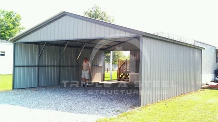 24×41 All Vertical Style Carport with Both Sides Closed
