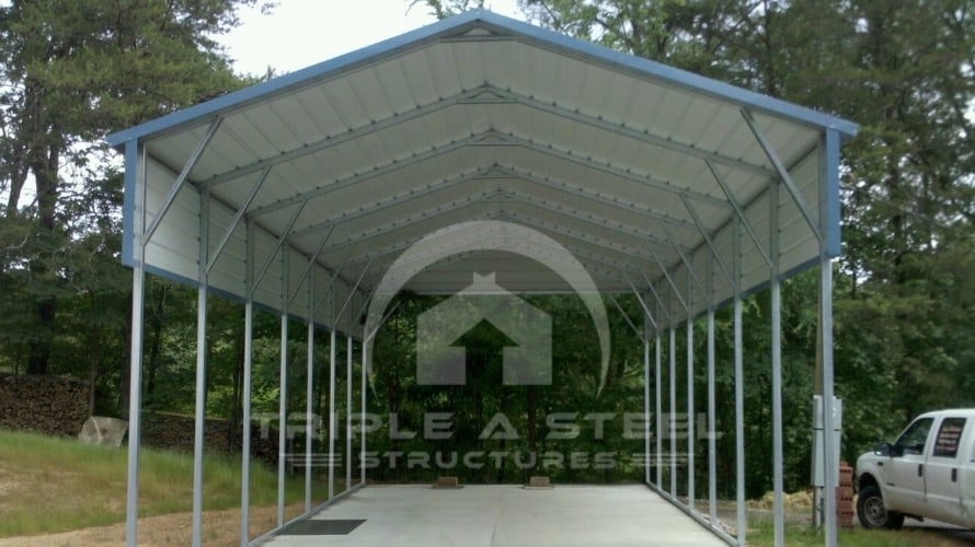 20×36 Boxed Eave Style Carport with One Gable