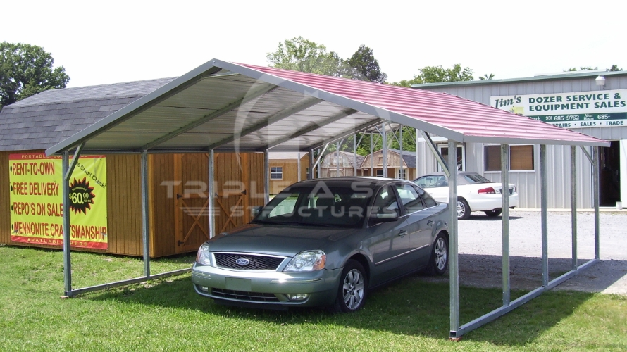 18×21 Boxed Eave Style Carport