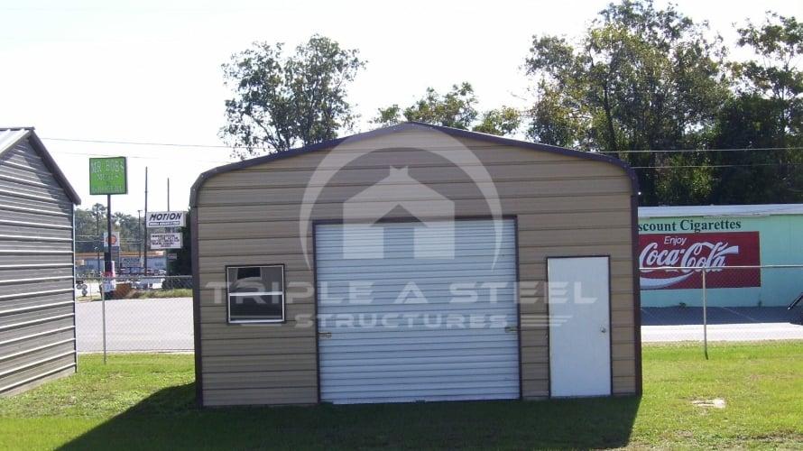 20×26 Regular Metal Garage with Garage Door
