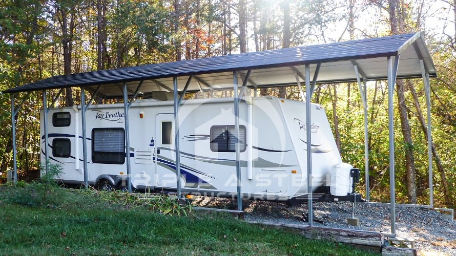 12×36 RV Carport Boxed Eave Style Top Only