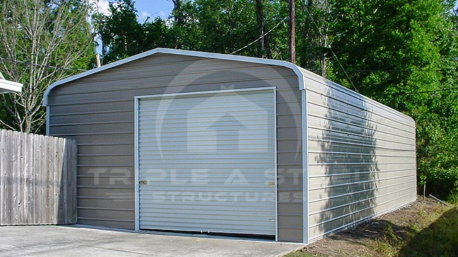 Regular Roof Style Garage, Single Garage Door