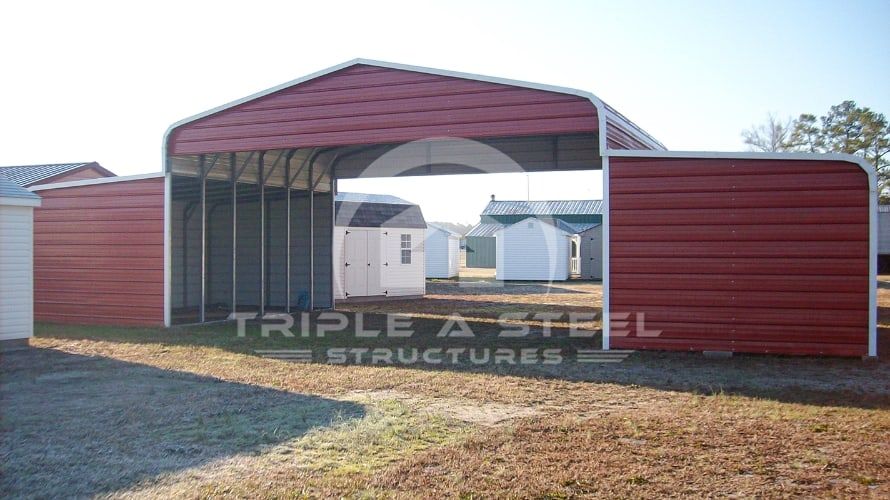 44×36 Regular Style Horse Barn with Horizontal Gables and Ends