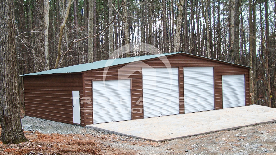 48×26 Seneca Barn Vertical Roof Style and Fully Enclosed All Around