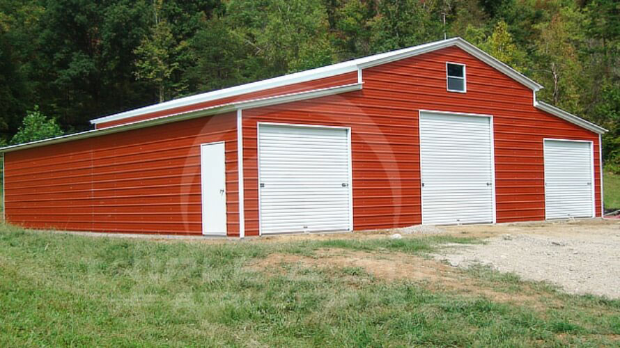 Carolina Barn Fully Enclosed Three Openings