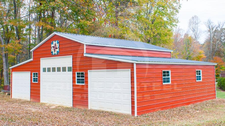 Carolina Barn With Overhead Doors