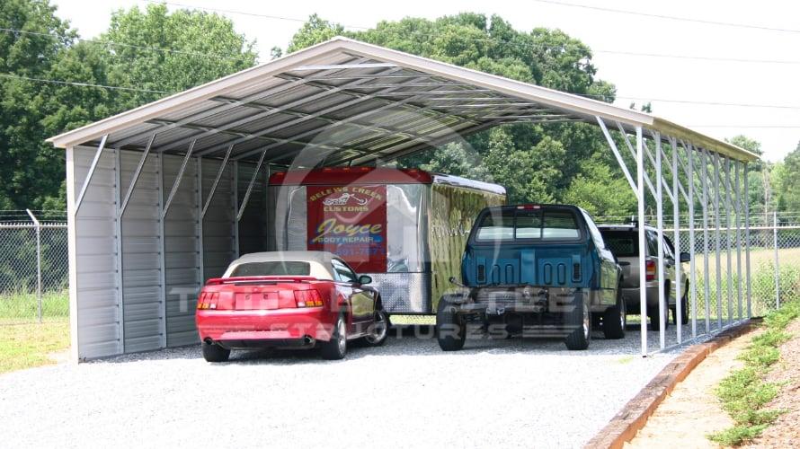 20×32 Vertical Roof Style Carport