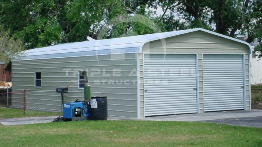 22×36 Regular Metal Garage with Garage Door