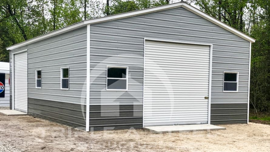 24x36x11 Vertical Two-Tone Garage