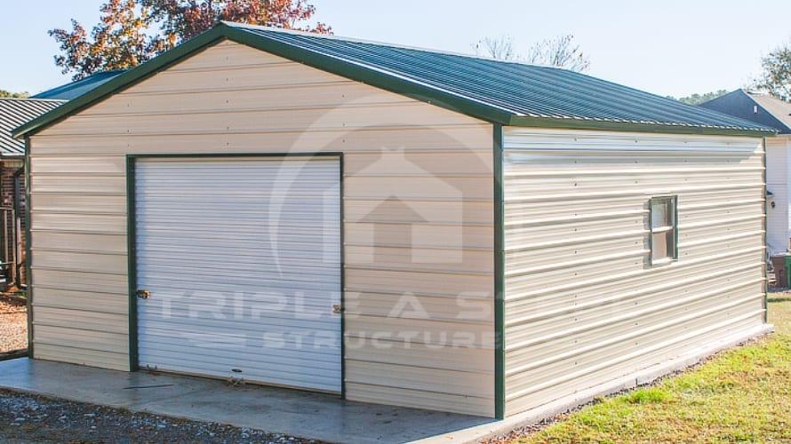 Vertical Garage with single garage door
