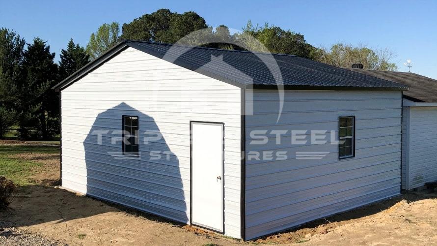 Vertical Garage With Insulated Garage Door