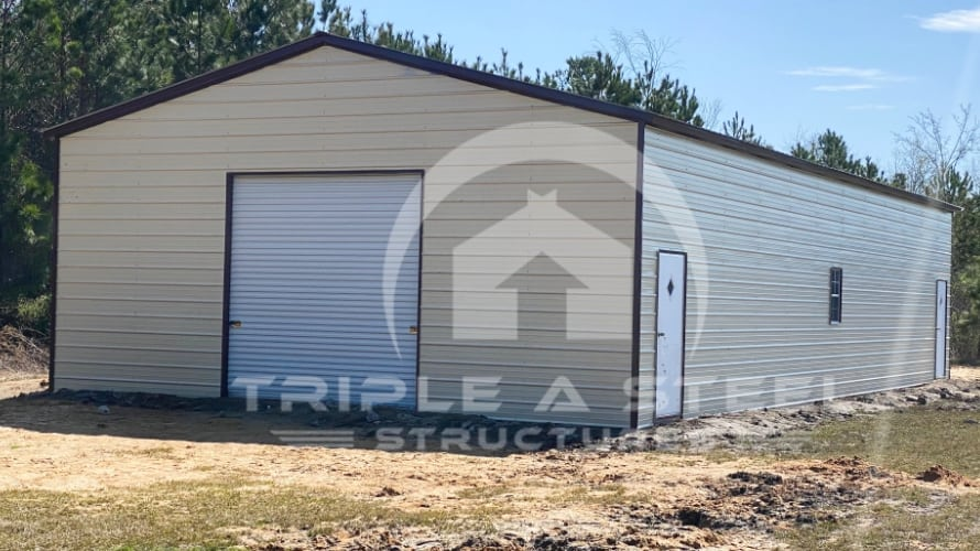 30×60 Fully Enclosed Triple Wide Structure