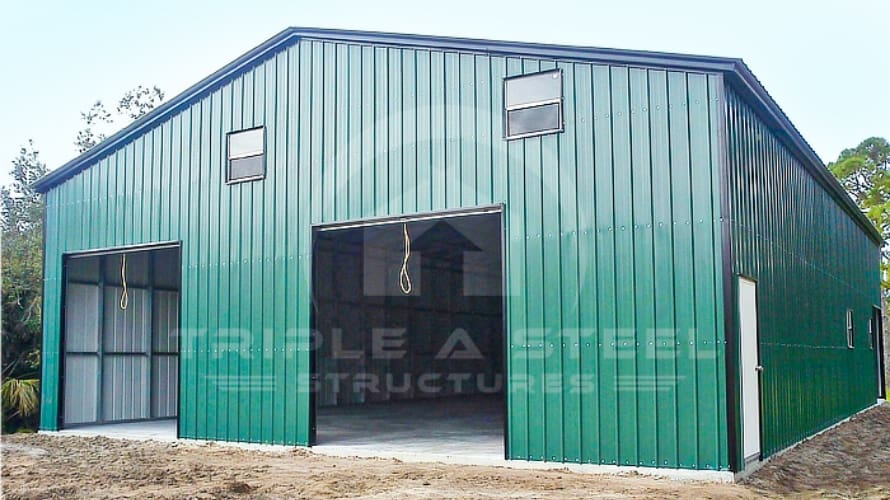 Fully Enclosed Commercial Building