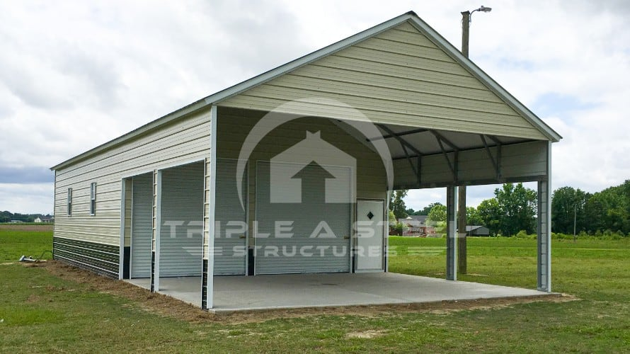 Custom Garage 6/12 Roof Pitch