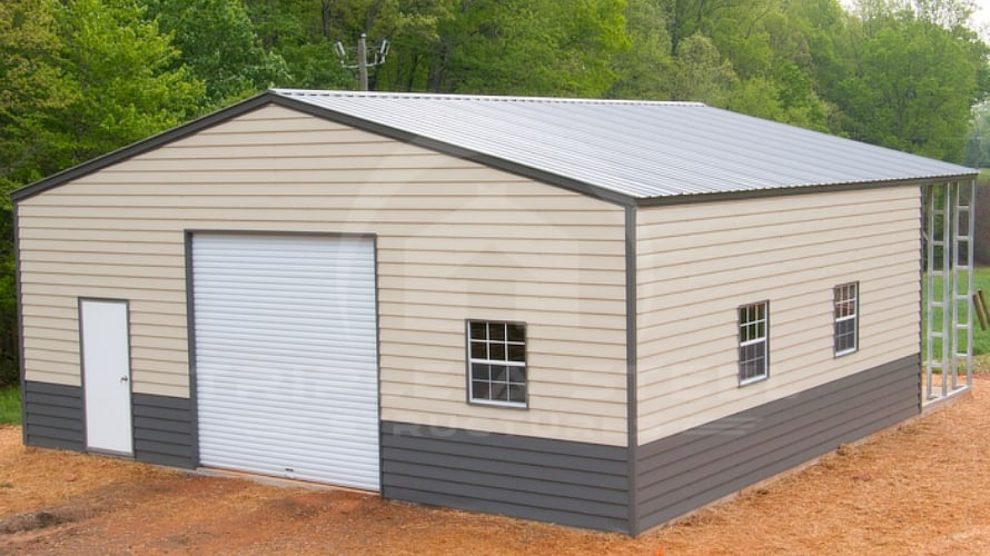 Two-Tone Lap-Sided Commercial Structure